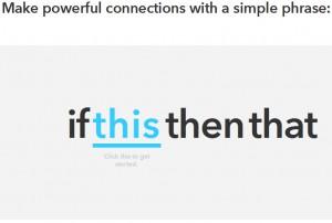 IFTTT 新規ログイン直後の画面