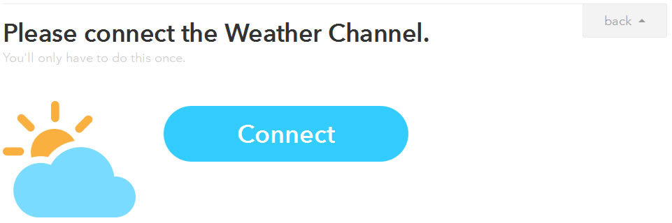 IFTTT レシピ作成その3 Weather Channel Connect