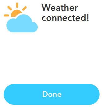 IFTTT レシピ作成その4 Weather Channel Connect成功