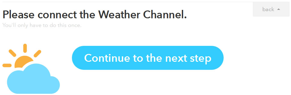IFTTT レシピ作成その5 Weather Channel Continue