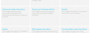 IFTTT レシピ作成その6 Weather Channel Tomorrow's forecast