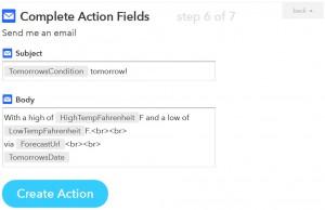 IFTTT レシピ作成その11 Emailの設定