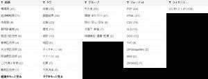 大阪市オープンデータポータルサイトのカテゴリ