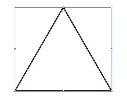 Illustratorで三角形が作成された