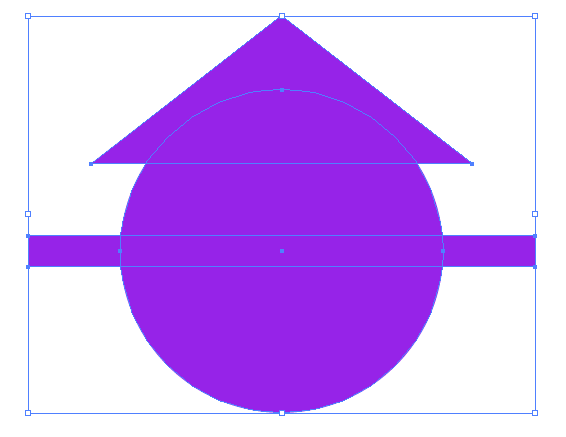Illustrator 合成する図形を選択