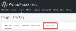 WordPress.org Plugins → Developers