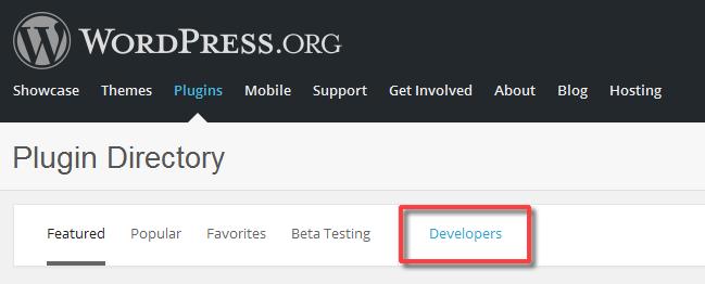 WordPress.org Plugins → Developers