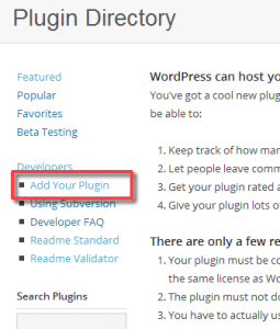 WordPress.org Add Your Plugin
