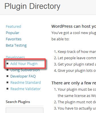 WordPress.org Add Your Plugin