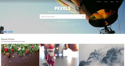 Pexels キャプチャ