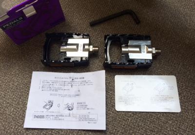 折り畳みペダル MKS(三ヶ島製作所)FD-7 内容物
