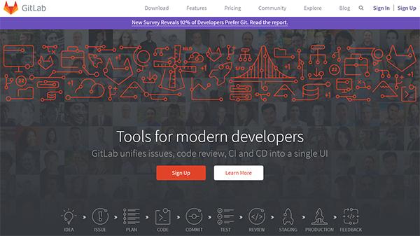 GitLabホームページキャプチャ