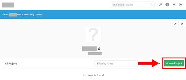 GitLab 新規プロジェクト作成03-1