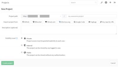 GitLab 新規プロジェクト作成04
