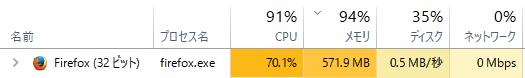 Firefoxが重たいので軽くする01