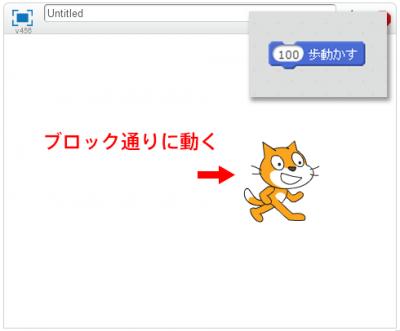 Scratch(スクラッチ) ブロックを実行する2