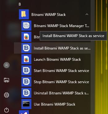 Install Bitnami Stack service