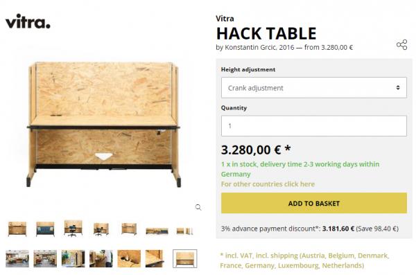 Hack Tableの販売サイト(海外)