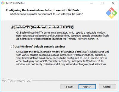 Git for Windowsインストール05