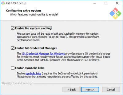 Git for Windowsインストール06
