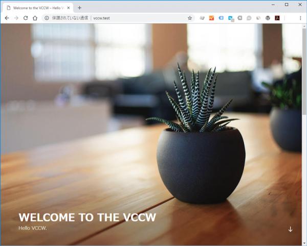 VCCW初回起動時