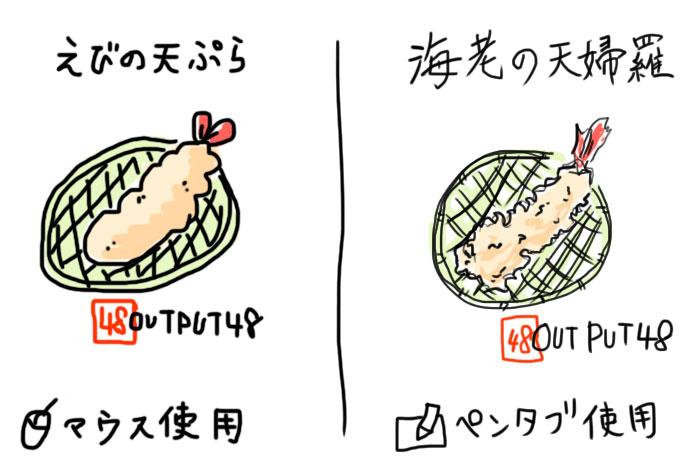 マウスとペンタブレットのイラスト比較