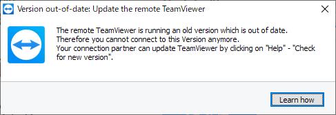 TeamViewerに接続しようとしたら出たエラー