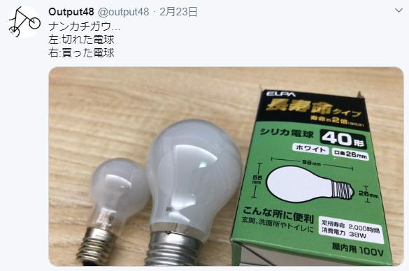 電球の大きさが分からない