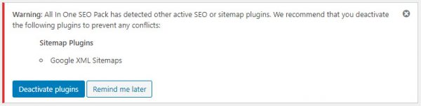 All In One SEO PackとGoogle XML Sitemapsのケンカ