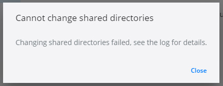Dockerでドライブ共有が出来ない
