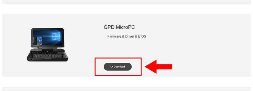 GPD MicroPC リカバリーメディア作成01