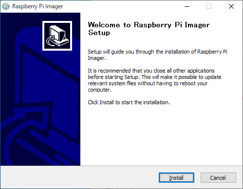 Raspberry Pi Imager Install Wizard 01