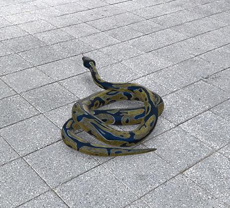 Google検索AR動物「ヘビ」