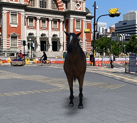 Google検索AR動物「馬」