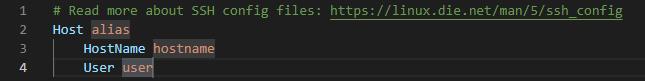 configファイルの初期状態